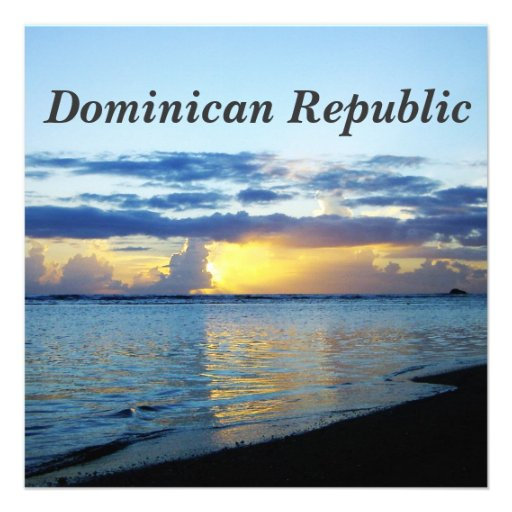 Dominican Republic Custom Invites
