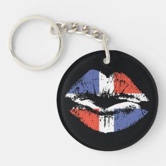 Dominican Republic lips key chain. Keychain