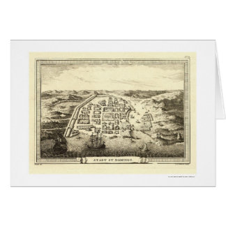 Dominican Republic Map by C.F. Fritzsch 1755 Greeting Card