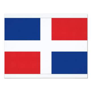 Dominican Republic National Flag Card