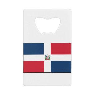 Dominican Republic   National Flag   Current Credit Card Bottle Opener
