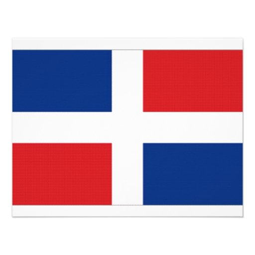 Dominican Republic National Flag Personalized Invite