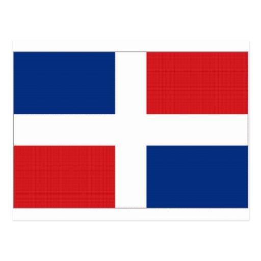 Dominican Republic National Flag Postcard