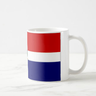 Dominican Republic Naval Ensign Classic White Coffee Mug