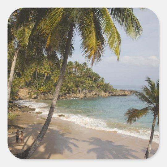 Dominican Republic, North Coast, Abreu, Playa 3 Square Sticker