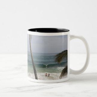 Dominican Republic, North Coast, Abreu, Playa 4 Two-Tone Coffee Mug
