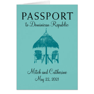 Dominican Republic Passport Wedding Invitation
