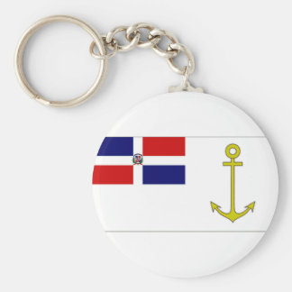 Dominican Republic President at sea Flag Keychain
