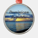 Dominican Republic Round Metal Christmas Ornament