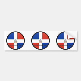 Dominican Republic Roundel quality Flag Bumper Sticker