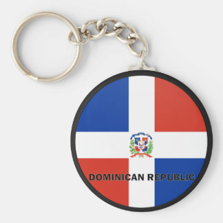 Dominican Republic Roundel quality Flag Keychain