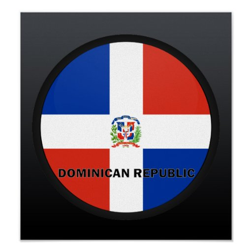 Dominican Republic Roundel quality Flag Poster