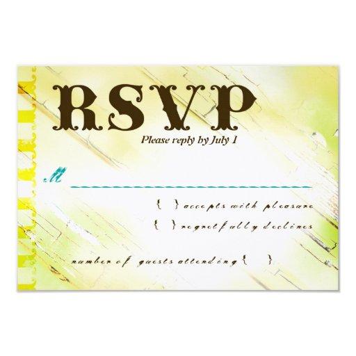 DOMINICAN REPUBLIC RSVP 3.5X5 PAPER INVITATION CARD