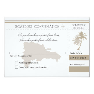 Dominican Republic RSVP Palm Tree Card