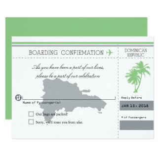 Dominican Republic RSVP Palm Tree Card