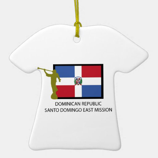 DOMINICAN REPUBLIC SANTO DOMINGO EAST MISSION LDS CHRISTMAS TREE ORNAMENT