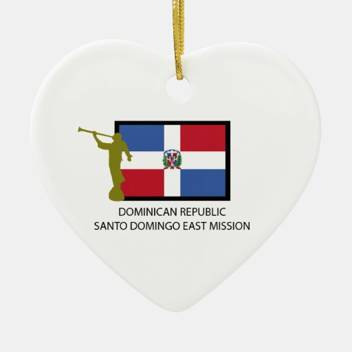 DOMINICAN REPUBLIC SANTO DOMINGO EAST MISSION LDS CHRISTMAS TREE ORNAMENTS