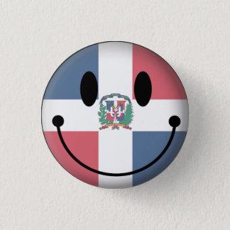 Dominican Republic Smiley Button