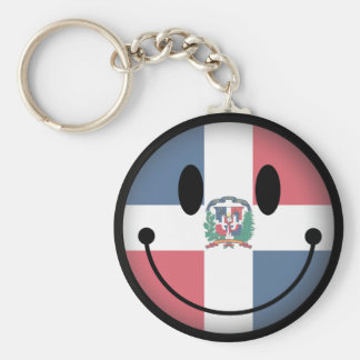 Dominican Republic Smiley Keychain
