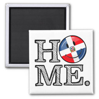 Dominican Republic Smiling Flag Housewarming Magnet