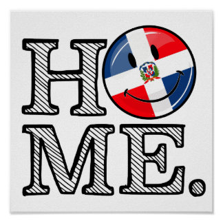 Dominican Republic Smiling Flag Housewarming Poster