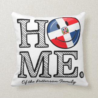 Dominican Republic Smiling Flag Housewarming Throw Pillow