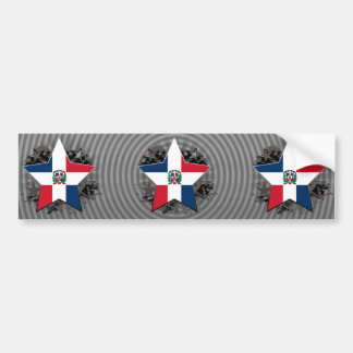 Dominican Republic Star Bumper Sticker