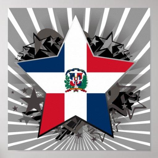 Dominican Republic Star Poster