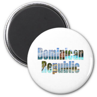 Dominican Republic tourist sights in letters Magnet