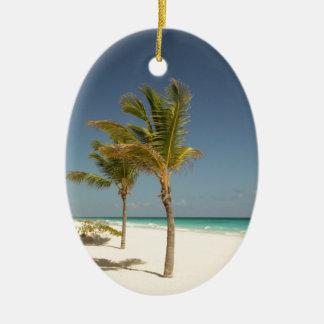 Dominican Republic Tropical Beach Ceramic Ornament