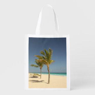Dominican Republic Tropical Beach Reusable Grocery Bag
