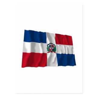 Dominican Republic Waving Flag Postcard
