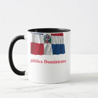 Dominican Republic Waving Flag w/ Name in Spanish Mug