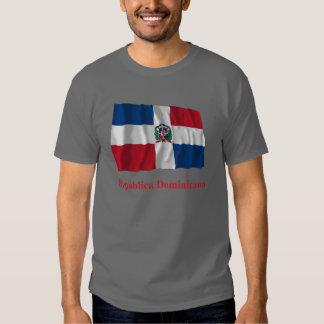 Dominican Republic Waving Flag w/ Name in Spanish T-shirt