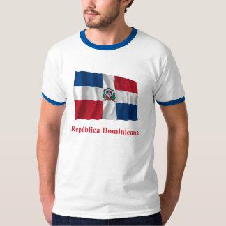 Dominican Republic Waving Flag w/ Name in Spanish Tee Shirt