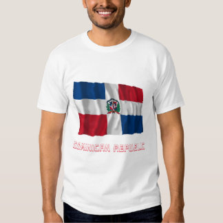 Dominican Republic Waving Flag with Name T Shirt