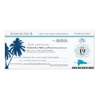 Dominican Republic Wedding Boarding Pass 4x9.25 Paper Invitation Card (<em>$2.57</em>)