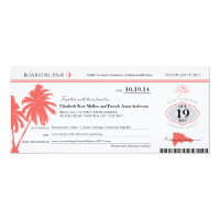 Dominican Republic Wedding Boarding Pass Card (<em>$2.57</em>)