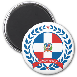 Dominican Republic Wreath 2 Inch Round Magnet