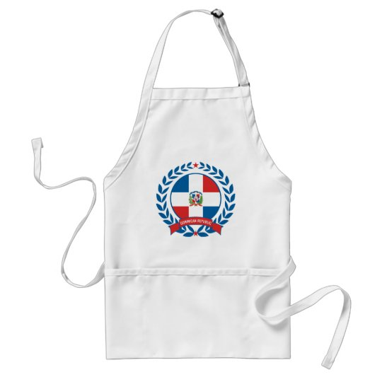 Dominican Republic Wreath Adult Apron
