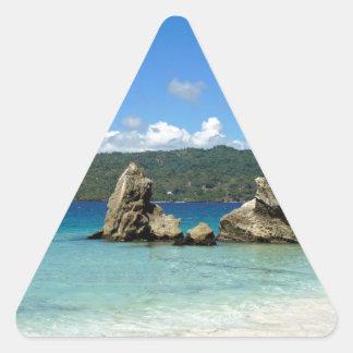 dominican summer triangle sticker