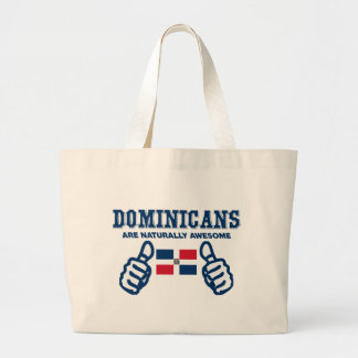 Dominicans are naturally awesome large tote bag