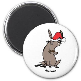 Dominick el burro imán redondo 5 cm