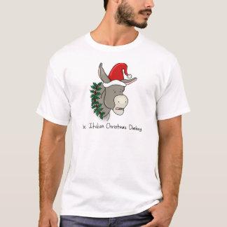 Dominick el burro italiano del navidad playera