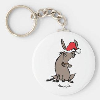 Dominick el burro llavero redondo tipo pin