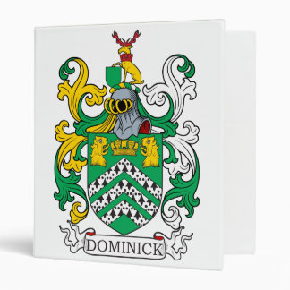 Dominick Family Crest 3 Ring Binders