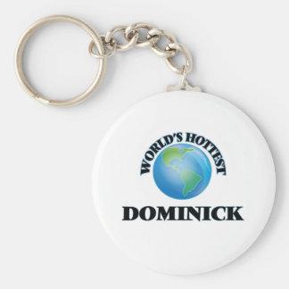 Dominick más caliente del mundo llaveros