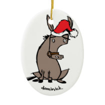 Dominick the Donkey Ceramic Ornament