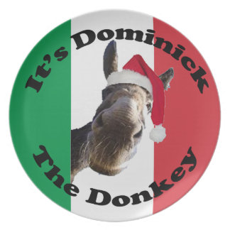dominick the donkey dinner plates