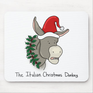 Dominick the Italian Christmas Donkey Mouse Pad